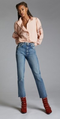AMO Chloe Cropped Straight Jeans