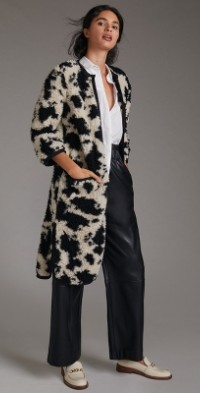 Anna Sui Cow-Spotted Knit Coat
