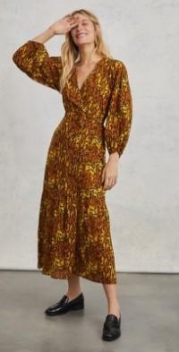 Saffron Wrap Maxi Dress