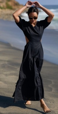 Tiered Cut-Out Maxi Dress