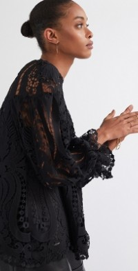 Delfi Embroidered Lace Blouse