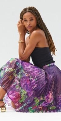 Delfi Floral Midi Skirt