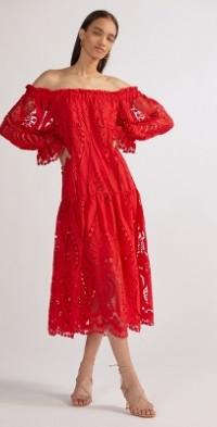 Delfi Off-The-Shoulder Midi Dress