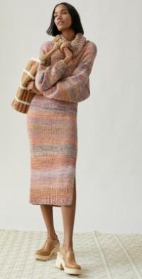 Space-Dyed Knit Midi Dress