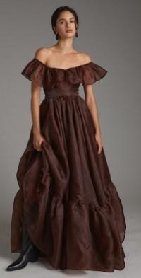 Flounced Tulle Maxi Dress