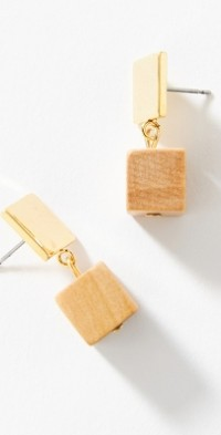Sophie Monet Cube Drop Earrings