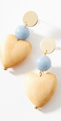 Sophie Monet Heart Drop Earrings