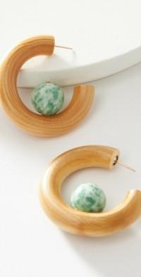 Sophie Monet Jade Sun Hoop Earrings