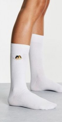 Fiorucci socks with angel graphic-White