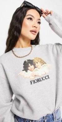 Fiorucci vintage angels sweatshirt in gray-Grey