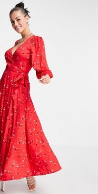 Ghost Aueline dress in red