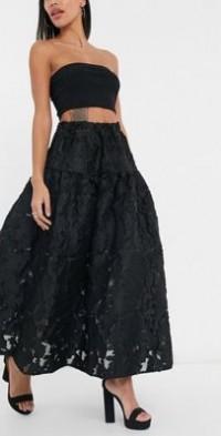 Dream Sister Jane coordinating organza smock maxi skirt in black
