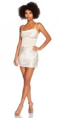 Steele corset Slip Dress in Ivory-White