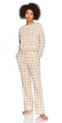 Steele plaid sweatpants in ecru - part of a set-White