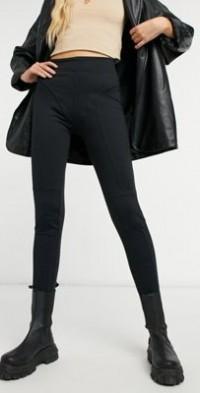 Steele seam detail slim sweatpants in black
