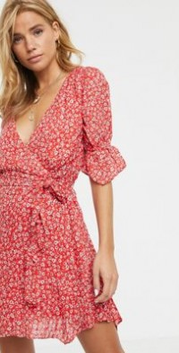 Stevie May Claret floral print mini dress-Red