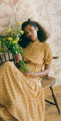 The Elle Dress Mustard Seed Floral