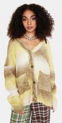 Green Celeste Knit Cardigan