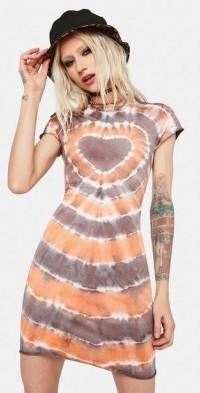 Vivid Tie Dye Mini Dress