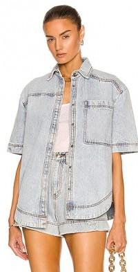 Porter Denim Asymmetric Shirt