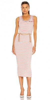 Striped Knitted Sleeveless Dress