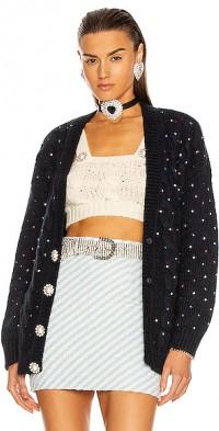 Wool Crystal Cardigan