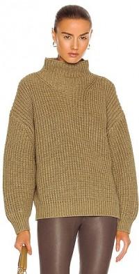 Melange Chunky Turtleneck Knit Sweater