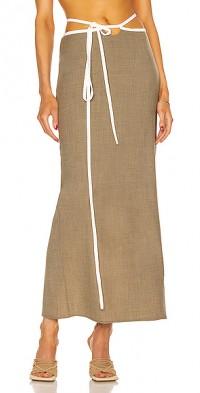 Outline Loophole Tie Skirt