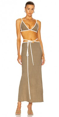 Outline Tie Bikini Top
