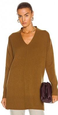 Seamed V Neck Sweater