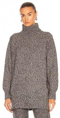 Split Hem Turtleneck Sweater