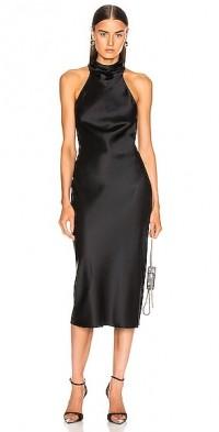 Sleeveless High Neck Pencil Dress