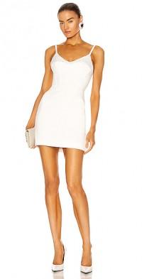Crystal Mesh Corset Mini Dress