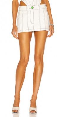Topstitch Mini Skirt