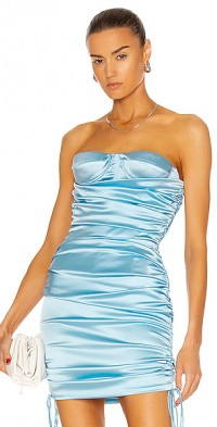 Ruched Strapless Bustier Top
