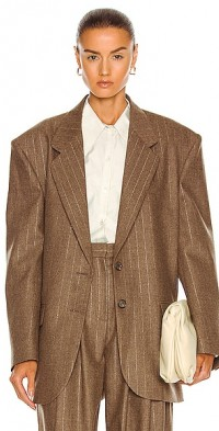 Oversized Metallic Striped Blazer