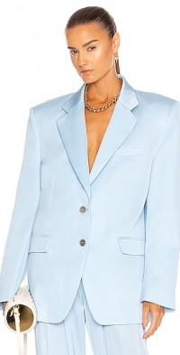 Oversized Silk Blazer