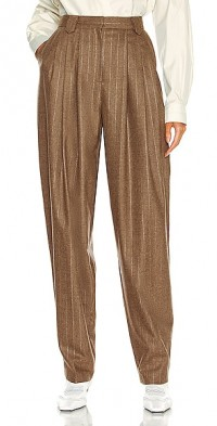 Tapered Metallic Striped Pant