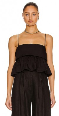 for FWRD Structure Bandeau Ruffle Top