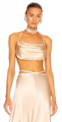 Silk Top with Crystal Cords