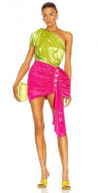 One Shoulder Ruched Mini Dress
