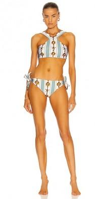 Printed Halter Neck Bikini Set