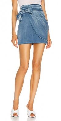 Drape and Bow Mini Skirt