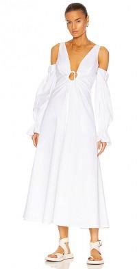 Cold Shoulder Bell Cuff Dress