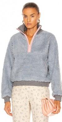Neck Fleece Sweatshirt