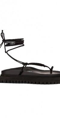 Flat Lace-Up Thong Sandal