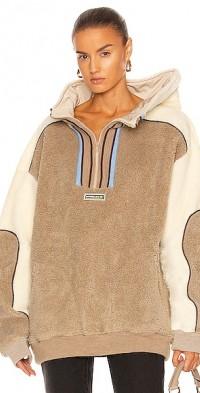 Clip Shoulder Fleece Sweater