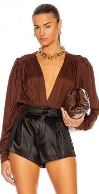 Envelope Silk Bodysuit