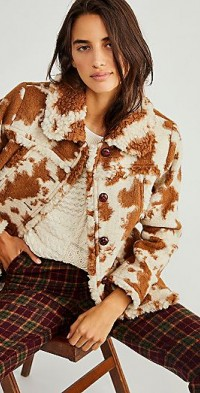 Anna Sui Faux Cowhide Shearling Coat