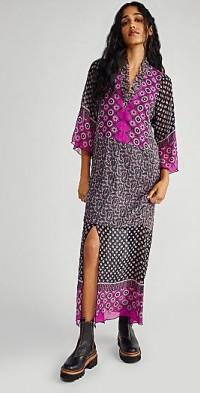 Anna Sui Floral Lattice Dress